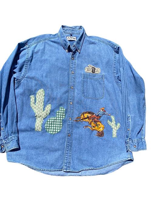 Western denim shirt