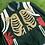 Thumbnail: Green skeleton varsity jacket