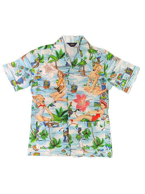 Pin up girl floral shirt