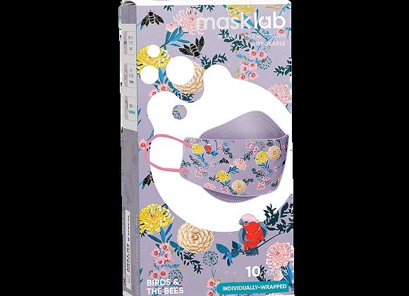 "MaskLab ""Birds & The Bees"" KF Version 2 Disposable Respirator - 10 Pack  (FFP2)"