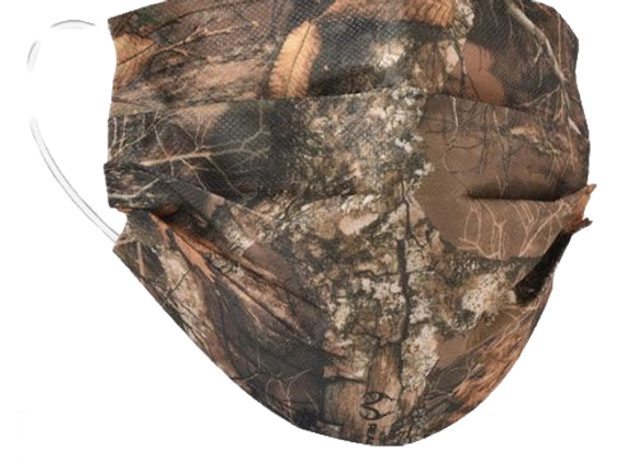 Realtree Edge Camo Mask - 50 Pack - Individually Wrapped; Non-Medical