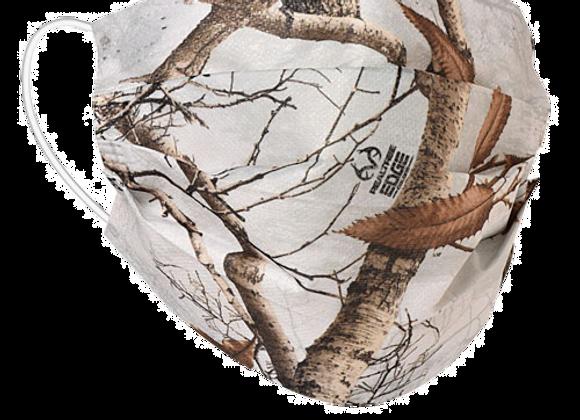 Realtree Edge Snow Camo Mask - 50 Pack - Individually Wrapped; Non-Medi