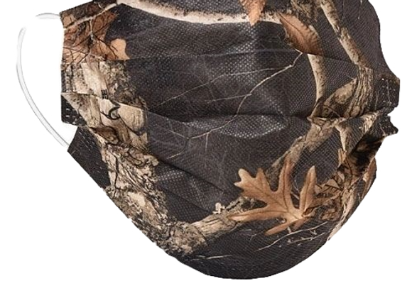 Realtree Edge Black Camo Mask - 50 Pack - Individually Wrapped; Non-Medical