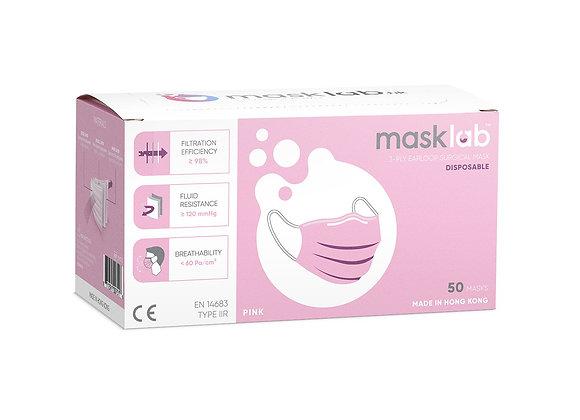 Adult Pink Masks ASTM Level 3 (50-pack)