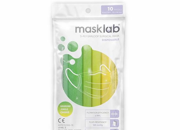Junior Masklab Hawaiian Jungle Masks ASTM Level 3 (10-pack)