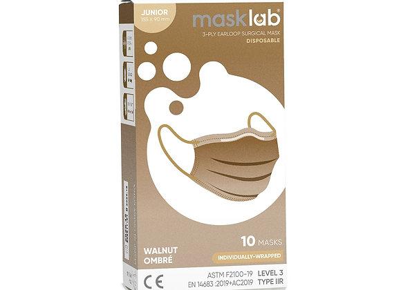 Junior Masklab Walnut Ombre Masks ASTM Level 3 (10-pack)