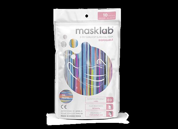 Junior Masklab Oil Pastel Masks ASTM Level 3 (10-pack)