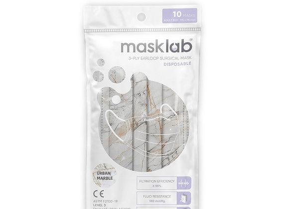 Adult Masklab Urban Marble Masks ASTM Level 3 (10-pack)