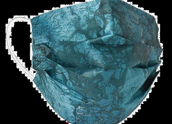 Realtree WAV3 Teal Mask - 50 Pack - Individually Wrapped; Non-Medi