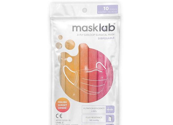 Adult Masklab Malibu Sunset Ombre Masks ASTM Level 3 (10-pack)