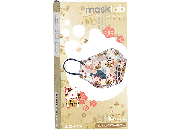 "MaskLab ""Lucky Cat"" KF Version 2 Disposable Respirator - 10 Pack  (FFP2)"