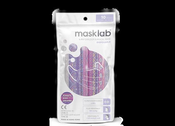 Adult Masklab Boho Dreamer Masks ASTM Level 3 (10-pack)