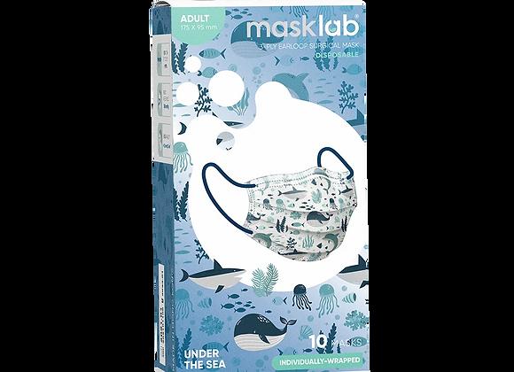 Adult Masklab Under the Sea Masks ASTM Level 3 (10-pack)