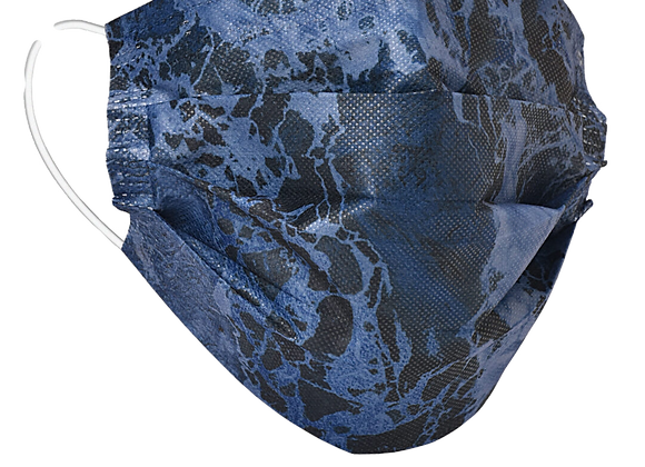 Realtree WAV3 Blue Denim Mask - 50 Pack - Individually Wrapped; Non-Medi