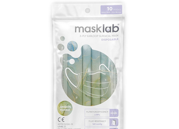 Adult Masklab Amazon Marble Masks ASTM Level 3 (10-pack)