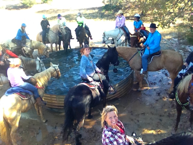 A drink on a trail ride