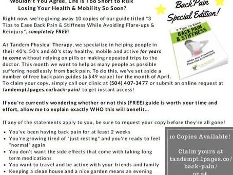 April Newsletter - Back Pain Edition