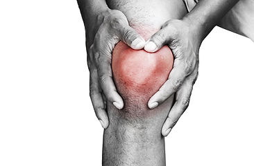 Young man with knee pain_