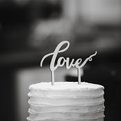 Mornington Peninsula Wedding Photography, wedding cake with love topper