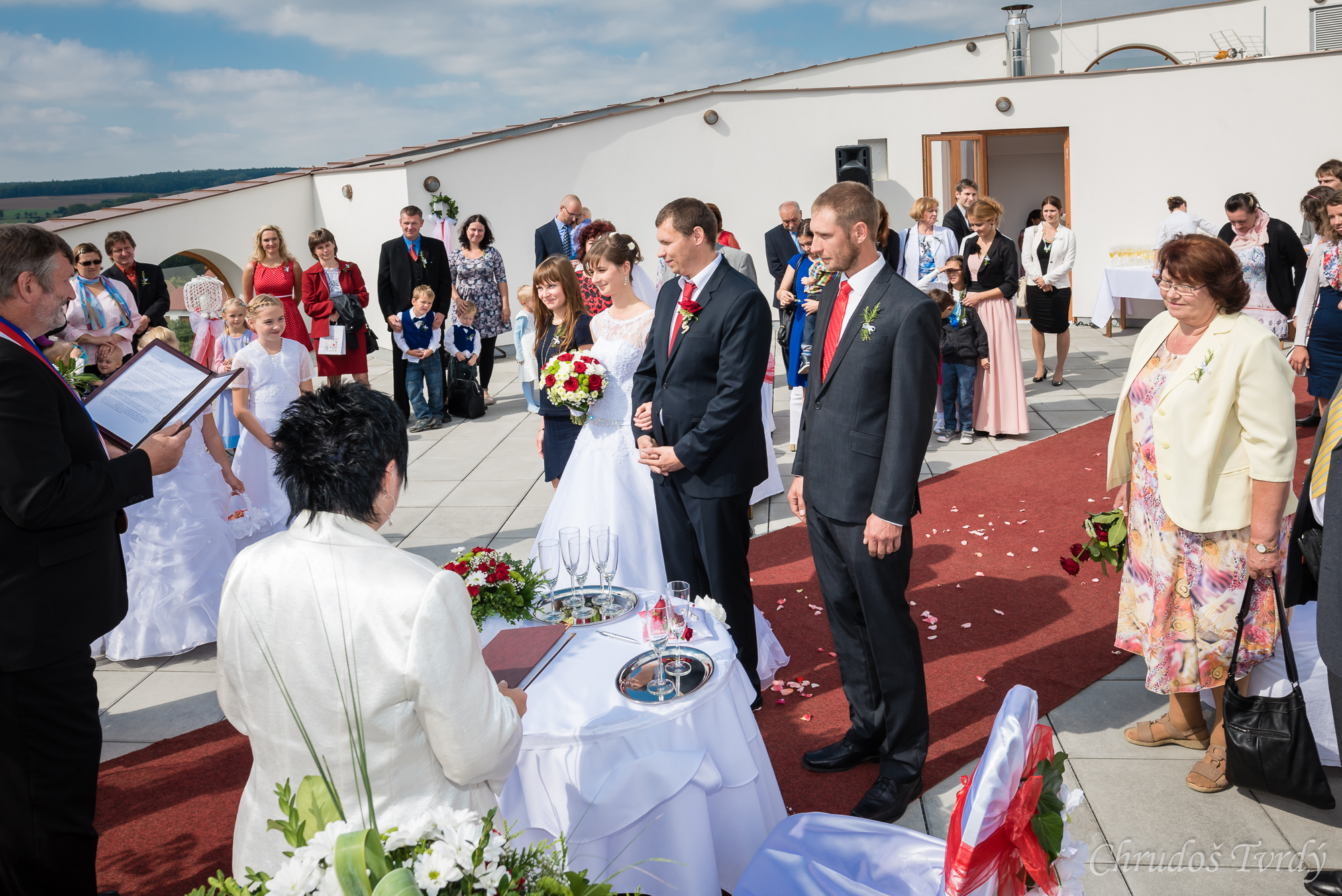 Svatba na kruhove terase hotelu KALIMETA 3