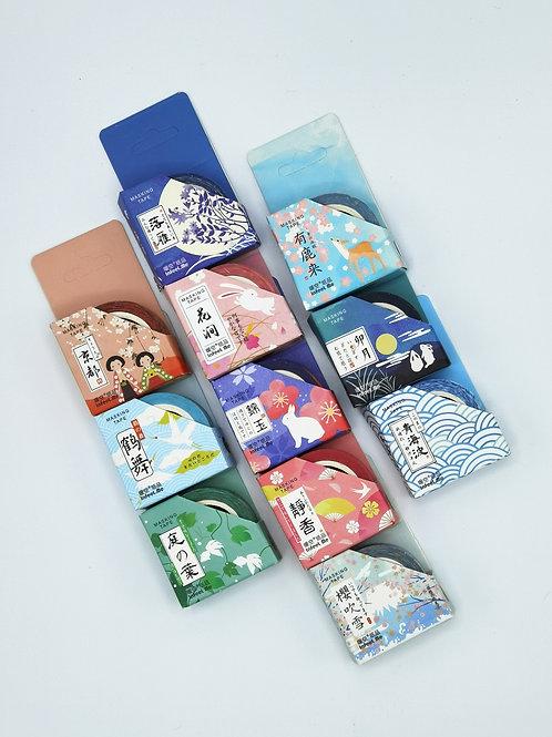 bunte Washi Tapesmit verschiedenen Mustern