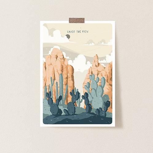 Postkarte 'Enjoy the View'