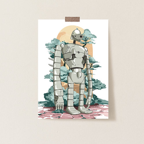 Postkarte 'Robot from Castle In The Sky'