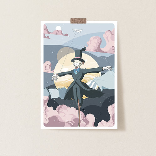 Postkarte 'Scarecrow from Howl's Moving Castle'