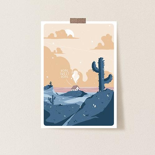 Postkarte 'Home Sweet Home'