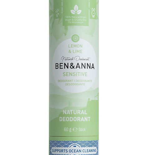 Ben &Anna sensitive Deostick Lemon & Lime