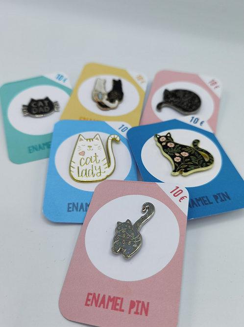 Cat-Lover Pins
