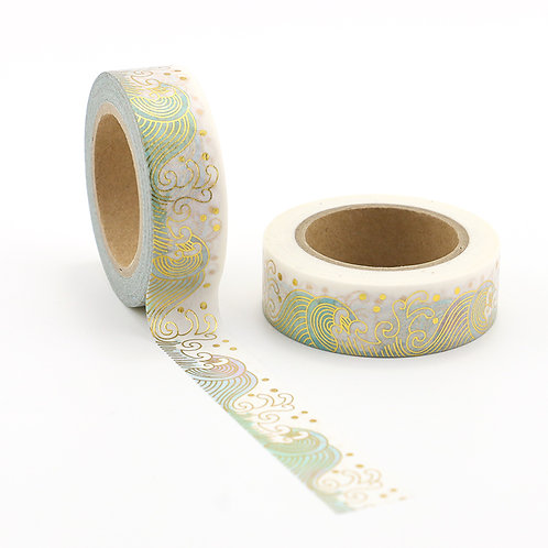 Washi Tape Golden Wave