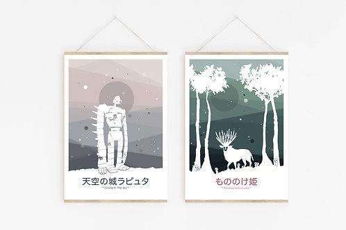 Set 2 A5 Kunstdrucke // Set 2 A5 Artprints