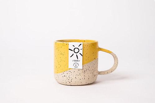 handgefertigte Keramik- Tasse