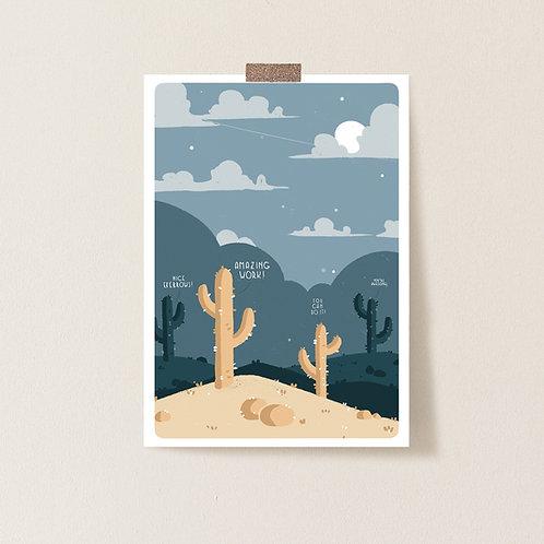 Postkarte 'Cheerleader Cactus'