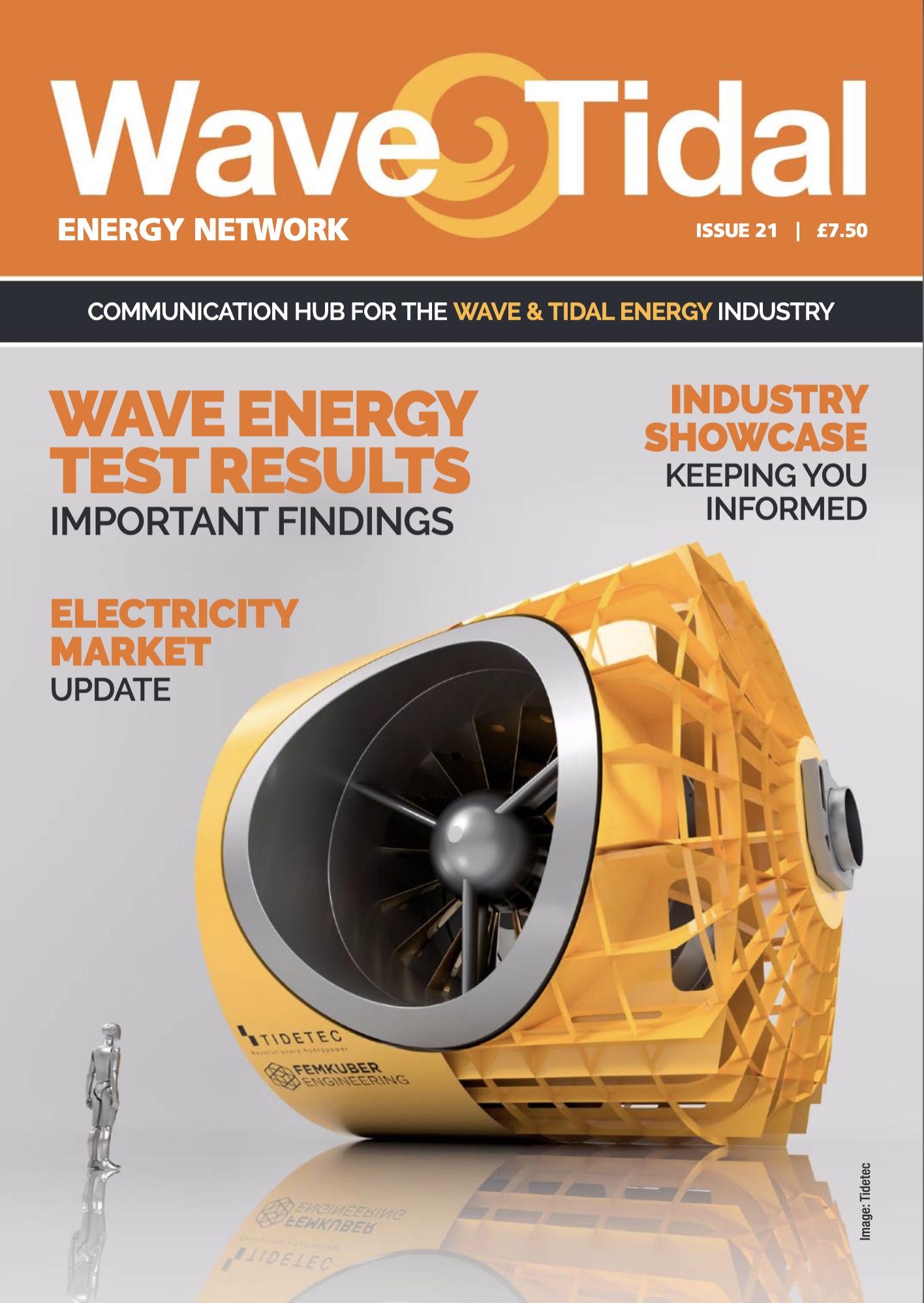 Wave Energy Tidal Magazine May 2019-Fron