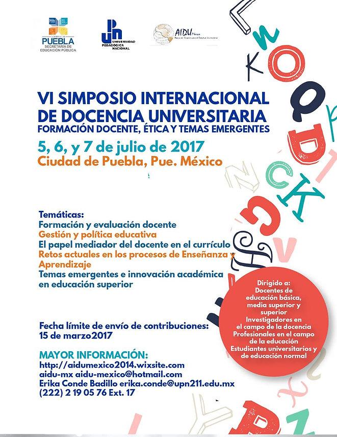 VI Simposio Internacional Docencia Universitaria