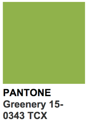 Greenery, Pantone's Color of the Year