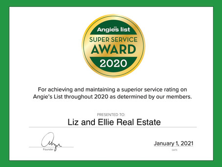 We're Angie's List Super Service Award winners!
