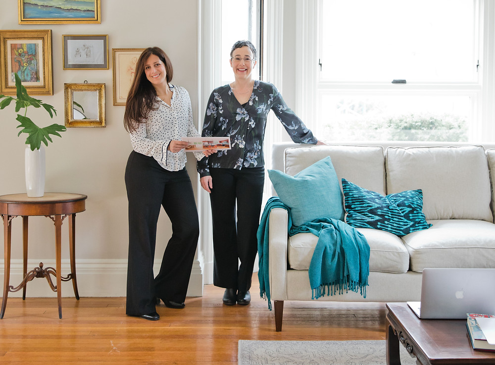 Liz and Ellie tour a home before it's listed