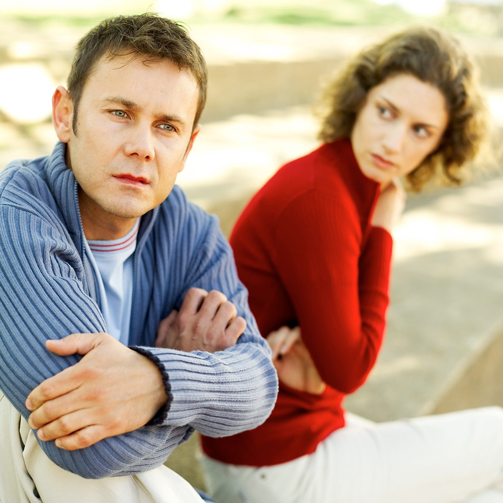 Image of a couple symbolizing adults thinking about divorce. Abigail Blackburn PsyD helps clients find empathy