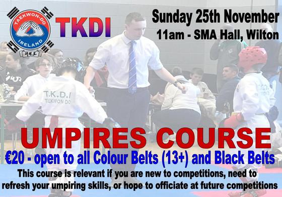 TKDI Umpire Course
