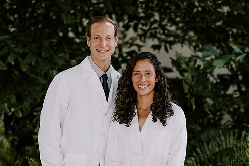 Yoder's in white coats