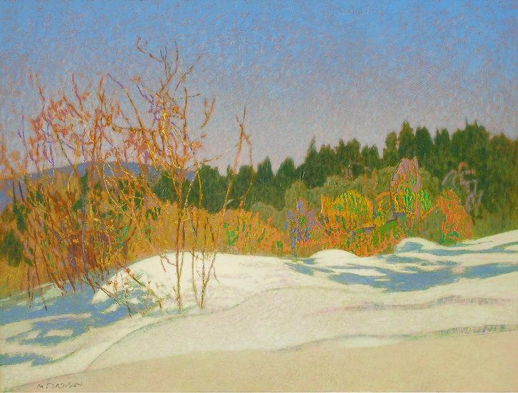 Michael Ferguson Acrylic Painting Snow Pillows