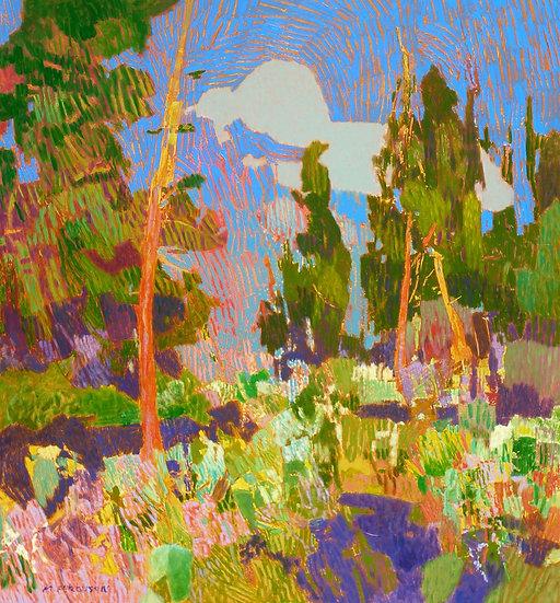 Michael Ferguson Acrylic Painting Open Pines