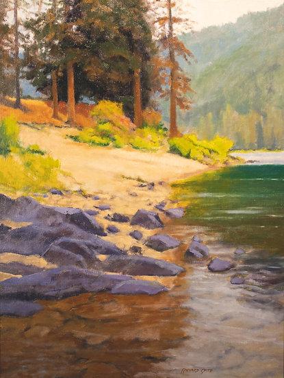 oil painting richard smith rocky shore