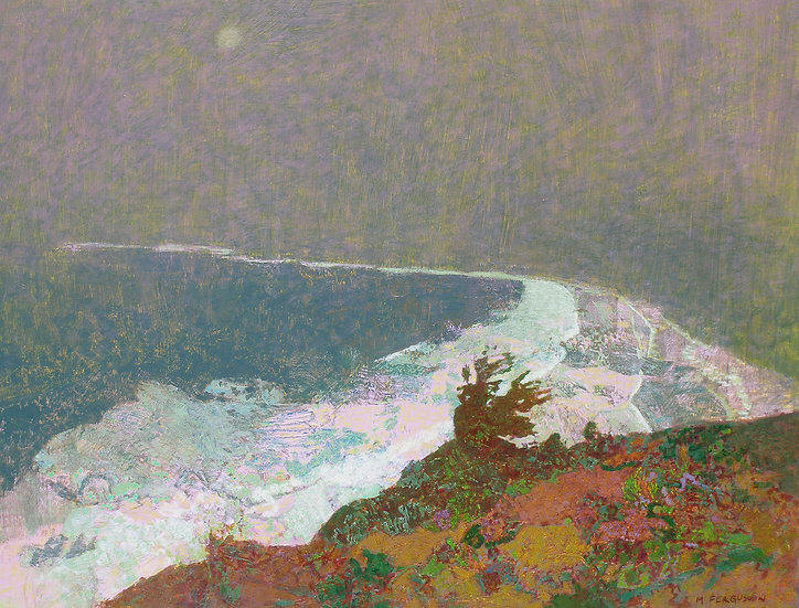 Michael Ferguson Acrylic Painting Bluff Moon