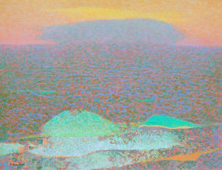 Michael Ferguson Acrylic Painting Three Waves