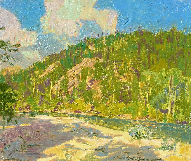 Michael Ferguson Oil Painting Late Afternoon Beach