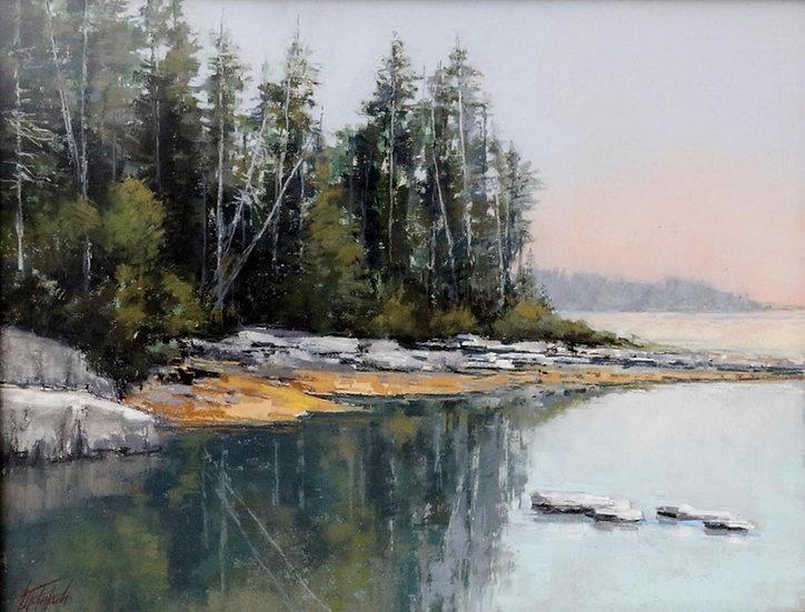 Pastel Mary McIntosh Quiet Inlet